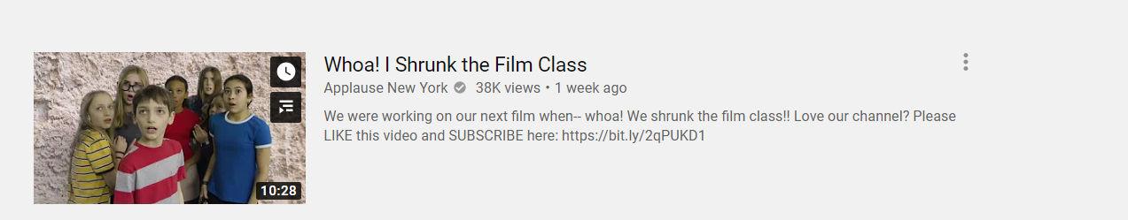 Whoa! I shrunk the film class screenshot teaser