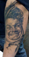 Chris Farley - healed tattoo