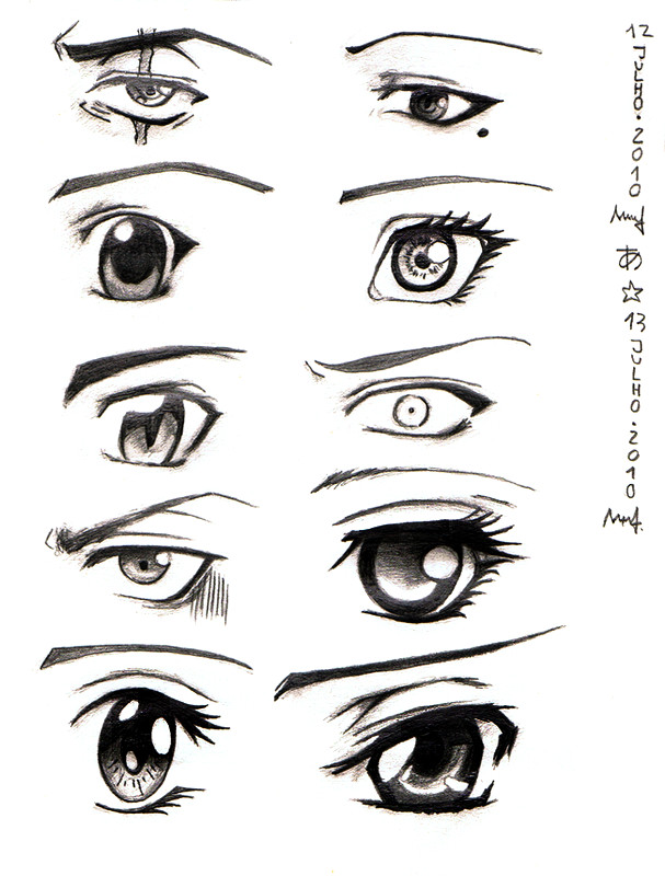 How To Draw Happy Girl Anime Eyes