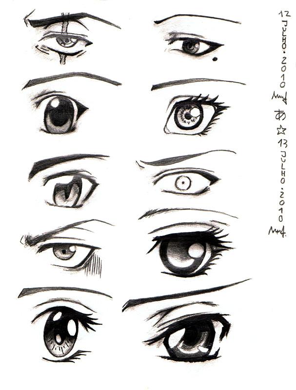 Manga And Anime Eyes By Shanerose On Deviantart