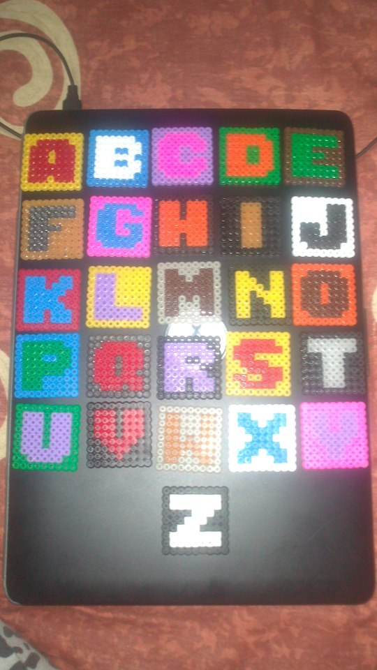 Perler Bead Alphabet Magnets | Parentsavvy. Perler Bead Alphabet - 1 ...