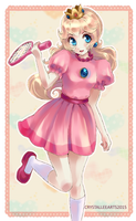 ~ Tennis Peach ~ by CrystalLeeArts