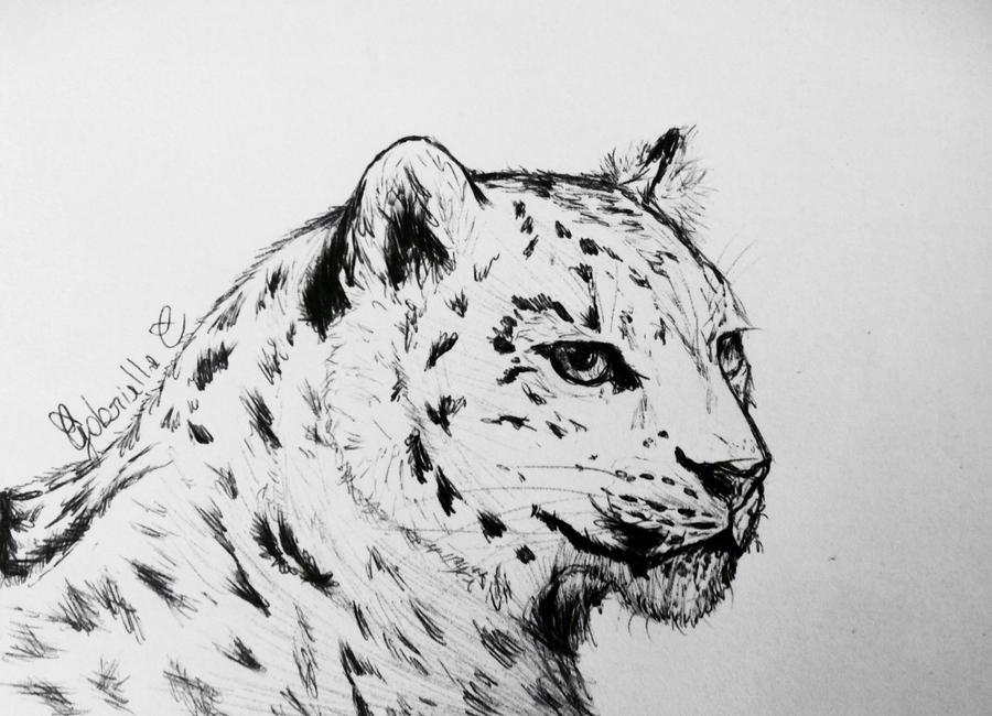 3d render of a cute snow leopard