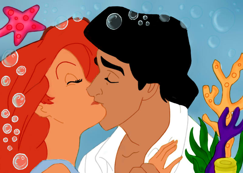 Kiss Ariel And Eric En Color By Ransom My Heart
