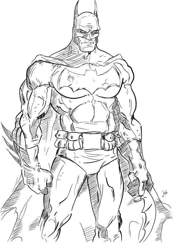 The Gallery For --u0026gt; Batman Sketches Drawings