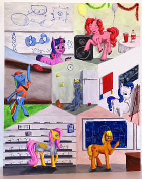 [Painting] The pony guide to college