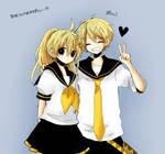 Rinto y Lenka Kagamine