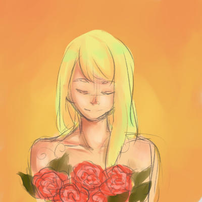 Rose Girl  by KanraDraws