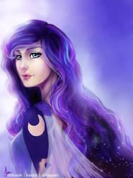 Princess Luna (Humanized) by riotfaerie