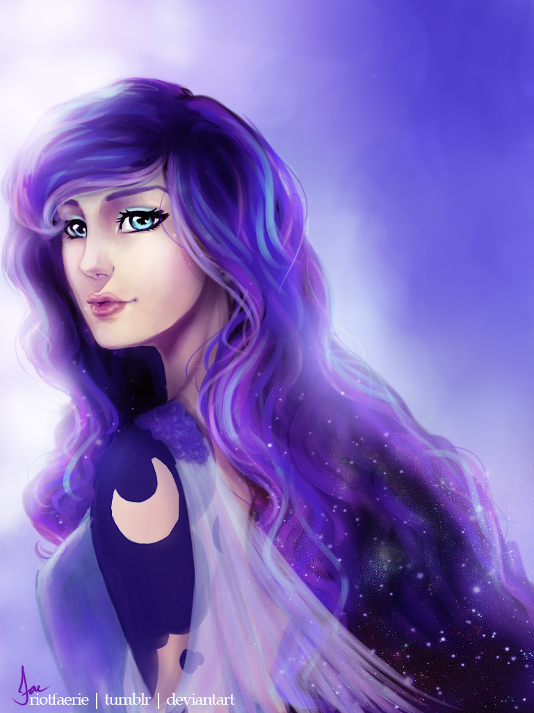 Princess Luna (Humanized) by riotfaerie