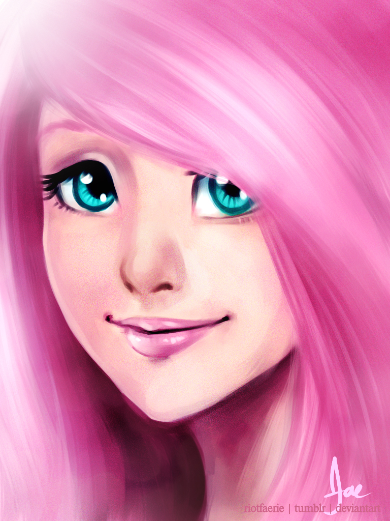 Humanized - Fluttershy by riotfaerie