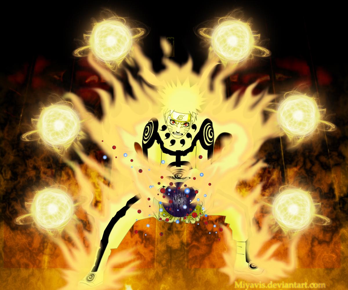 Tailed Beasts Wallpapers: Naruto Chakra Mode By Miyavis On DeviantArt