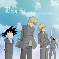 Pray for Japan anime by Miyavis