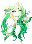 - Emerald Sun with Lilies of the Valley -