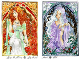 - COMMISSION - Art Nouveau - Autumn and Winter