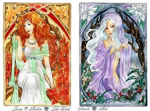 - COMMISSION - Art Nouveau - Autumn and Winter