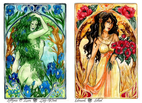 - COMMISSION - Art Nouveau - Spring and Summer