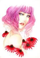Panima - Scarlett Coneflower - by ooneithoo