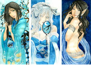 - Gift - Blue Ladies II by ooneithoo