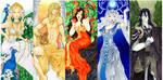 - Agape - Greek Gods Art nouveau - by ooneithoo