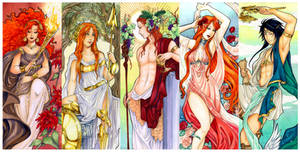 - Agape - Greek Gods Art nouveau II -
