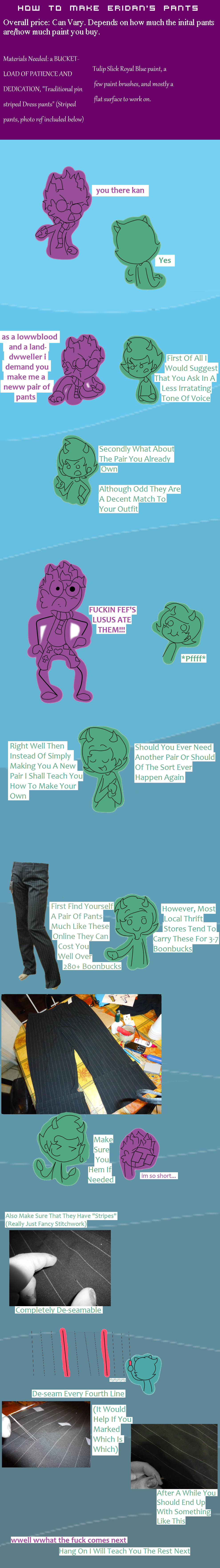 How to: Eridans' pants tutorial and tips pt1