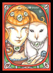 Nouveau Tangerine And Owl