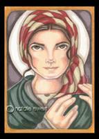 Saint Bernadette of Lordes by natamon