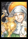 St Gertrude And Cats