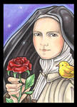 Saint Therese and Red Rose