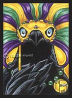 Mardi Gras Raven