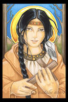 Blessed Kateri Tkakwitha by natamon