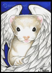 Angel Ferret In Blue by natamon