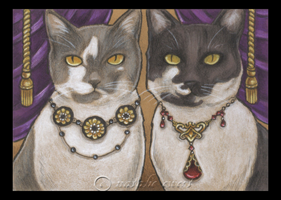 Bejeweled Cat 8 by natamon