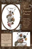 Custom Labyrinth Necklace by natamon