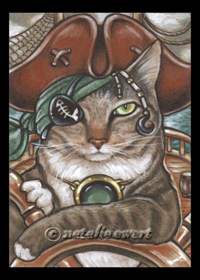 Pirate Cat 5 by natamon