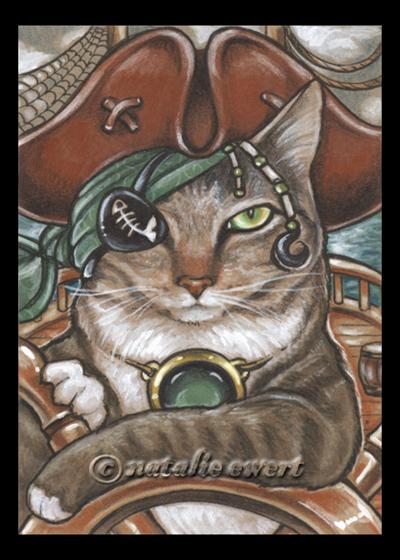 Pirate Cat 5 by natamon