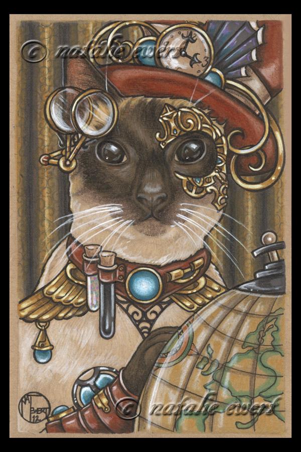 ZsaZsa The SteamPunk Cat by natamon