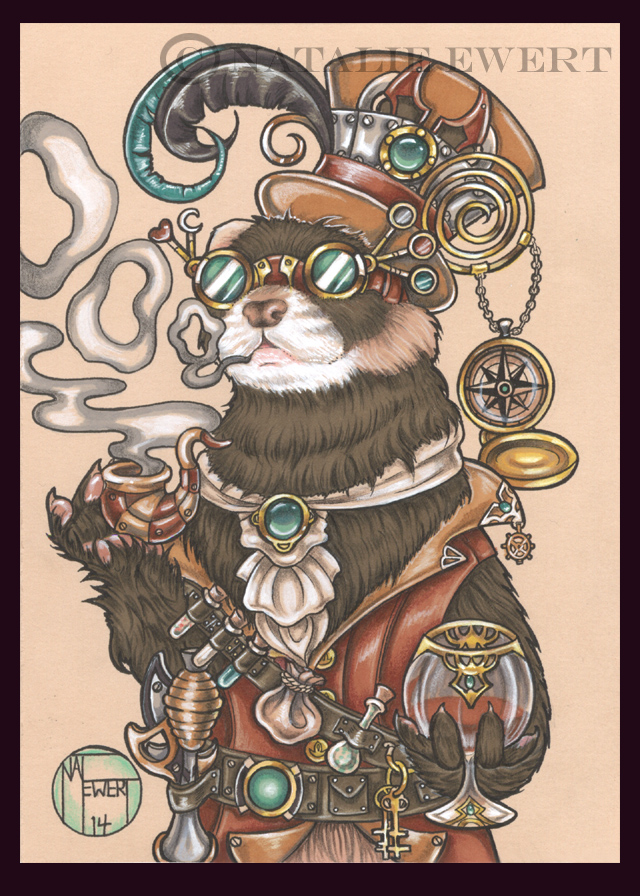 Octavius The Time Traveling Ferret by natamon