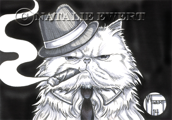 Gangster Cat by natamon