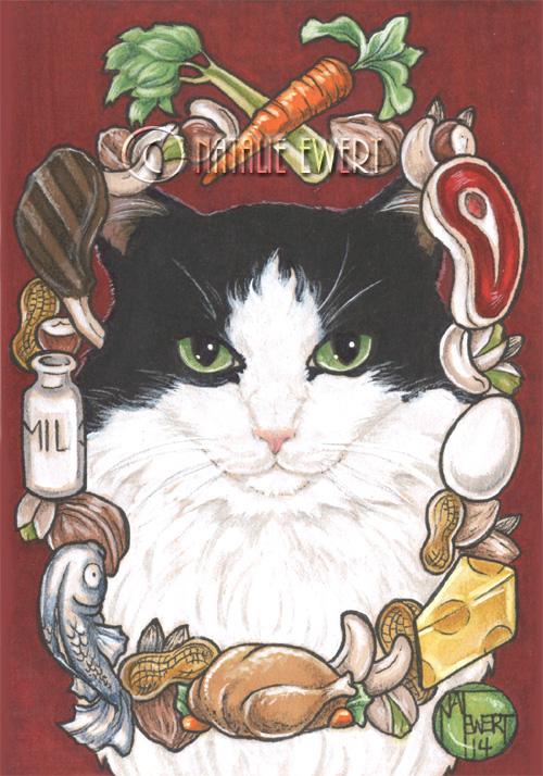 Minkus The Cat Framed Portrait Series 8 of 9 by natamon