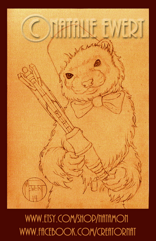 The 11th Doctor Who as a Ferret, Work In Progress. by natamon