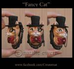 Fancy Cat The Sulpted Feline Brooch
