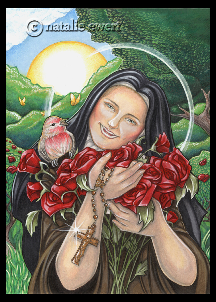 Laughing Saint Therese (version 2) by natamon