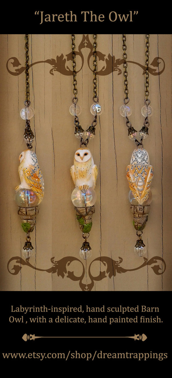Jareth The Owl Necklace by natamon