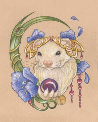 Evie The Ferret by natamon