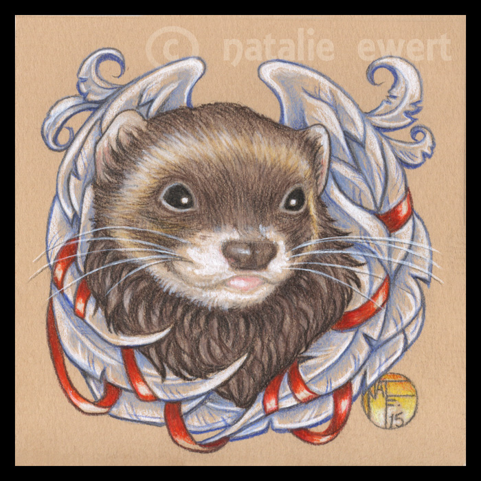 Barnabas The Angel Ferret by natamon