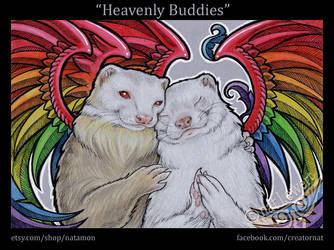 Heavenly Ferrets by natamon