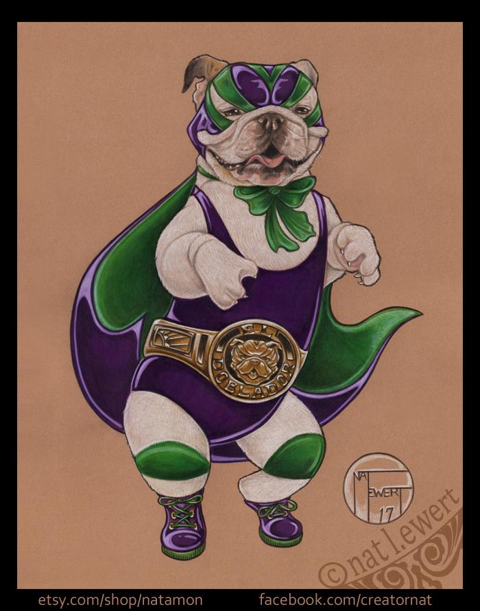 Luchadora Bulldog by natamon