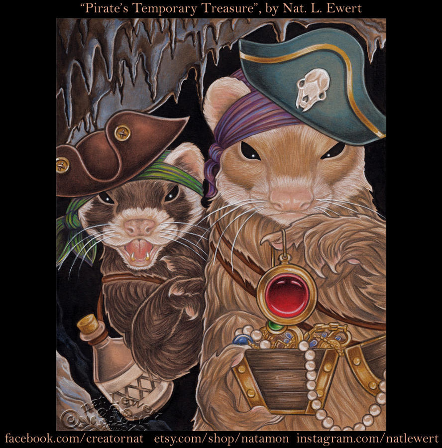 Pirate Ferrets Treasure by natamon